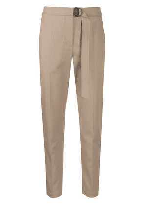 Brunello Cucinelli straight-leg belted trousers - Brown