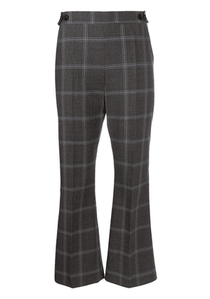 Marni checkered cropped flared trousers - Grey