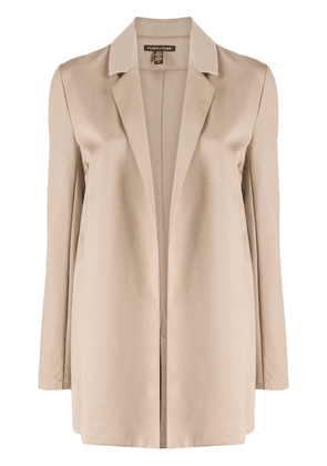 Eileen Fisher notch collar jacket - NEUTRALS