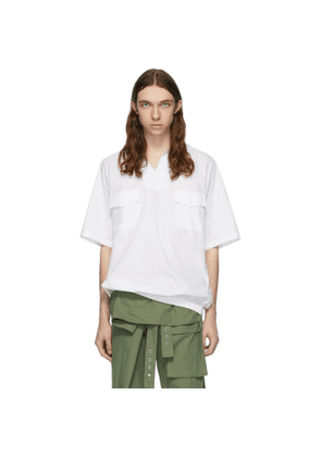 St-Henri White Sky Collared Short Sleeve Shirt