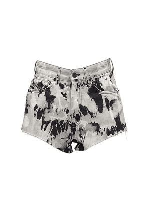De-higwei Printed Cotton Denim Shorts