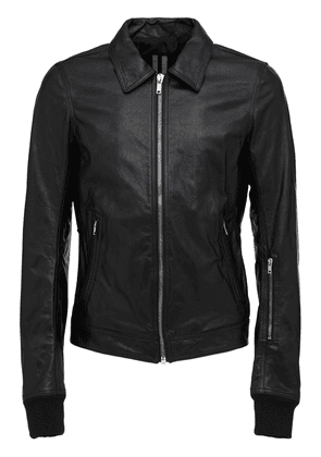 Leather Zip-up Jacket