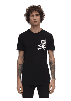 Print & Patch Cotton Jersey T-shirt