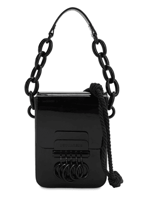 Key Patent Leather Shoulder Bag