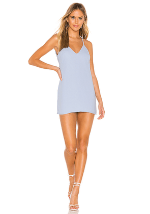 superdown Tawny Mini Shift Dress in Blue. Size XXS.
