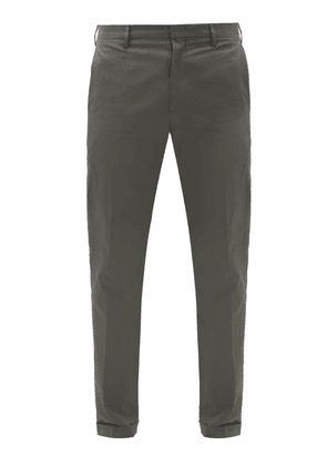 Paul Smith - Cotton-twill Slim-leg Chino Trousers - Mens - Grey