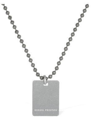 Dog Tag Silver Metal Necklace