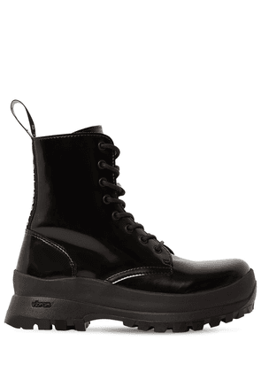 30mm Trace Faux Leather Ankle Boots