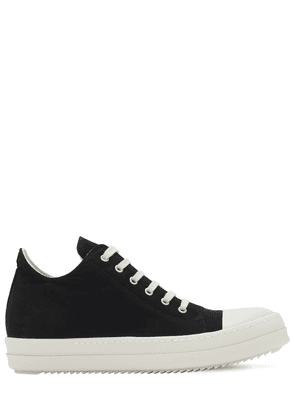 Organic Cotton Twill Low-top Sneakers