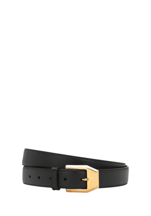 3cm Gold Classic Leather Belt