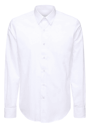French Collar Fitted Cotton Shirt