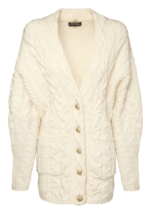 Wool & Cashmere Cable Knit Cardigan