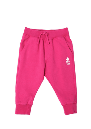 Printed Logo Detail Cotton Sweatpants