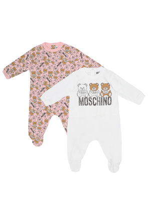 Set of 2 stretch-cotton onesies