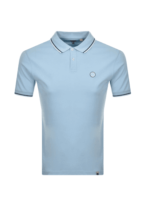 Pretty Green Short Sleeved Polo T Shirt Blue