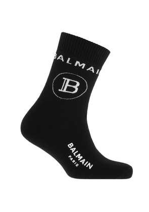 Balmain B Logo Sports Socks Black