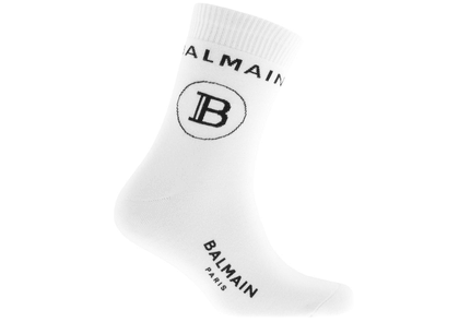 Balmain B Logo Sports Socks White