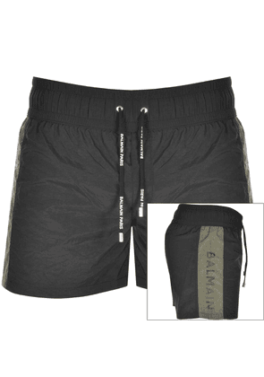 Balmain Logo Swim Shorts Black