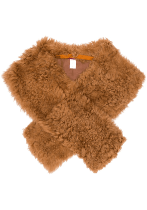Sies Marjan Jordi shearling shrug - Brown