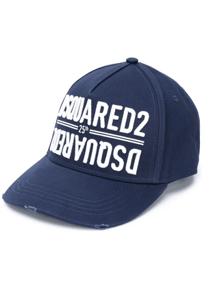Dsquared2 embroidered logo cap - Blue