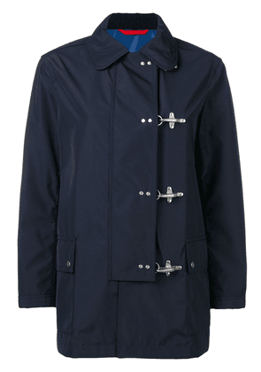 Fay off-centre button jacket - Blue