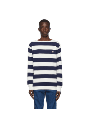 Gucci Blue and White Waffle Long Sleeve Sweatshirt