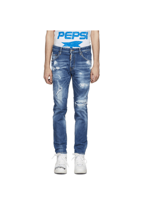 Dsquared2 Blue Classic Kenney Bleached Holes Jeans