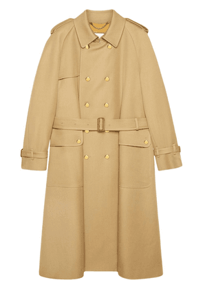 Gucci double-breasted trench coat - NEUTRALS