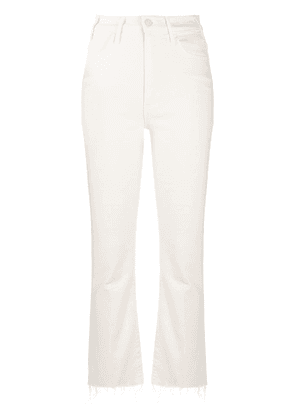 Mother mid rise straight jeans - NEUTRALS