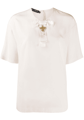 Dolce & Gabbana cross detail silk blouse - PINK