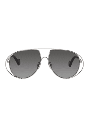 Loewe Silver and Black Pilot Sunglasses