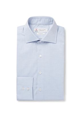 Turnbull & Asser - Light-Blue Cotton-Herringbone Shirt - Men - Blue