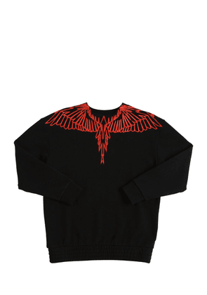 Wings Printed Cotton Sweatshirt