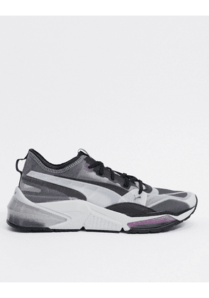 Puma LQD Cell optic sheer trainers in grey & black