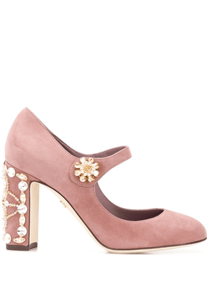 Dolce & Gabbana Vally embellished pumps - PINK