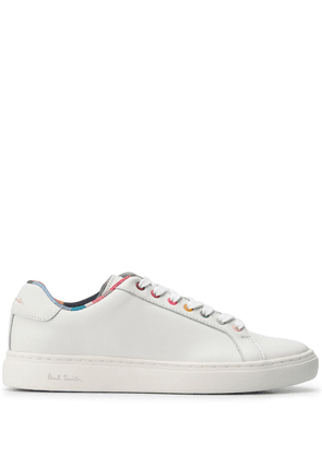 Paul Smith stripe lined lace-up sneakers - White