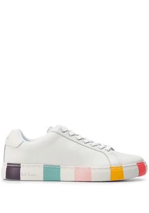Paul Smith striped heel lace-up sneakers - White