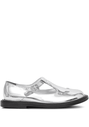 Burberry metallic T-bar shoes - SILVER