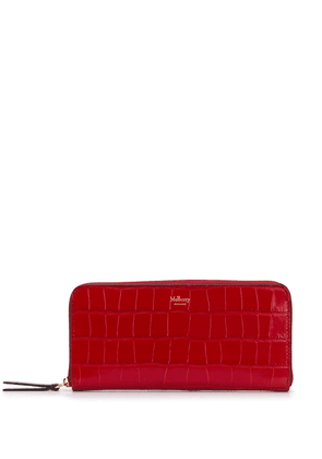 Mulberry embossed zip-around wallet - Red