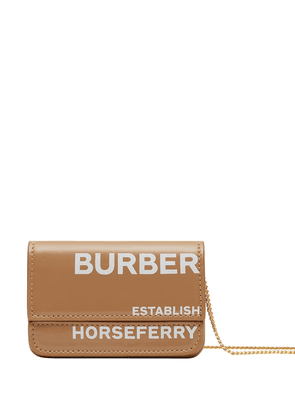 Burberry Horseferry print chain strap cardholder - Brown