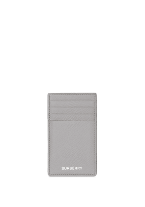Burberry logo-stamp grained-leather cardholder - Grey
