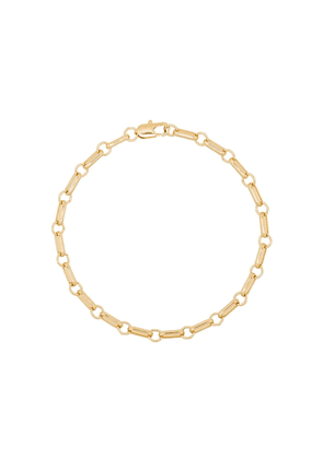 Laura Lombardi gold-plated bar chain anklet