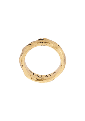 Nialaya Jewelry engraved ring - GOLD