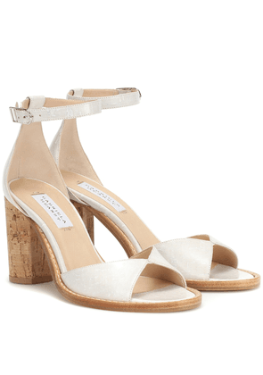 Adi leather and cork sandals