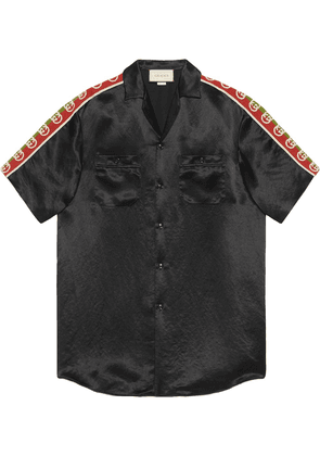 Gucci side-panel bowling shirt - Black
