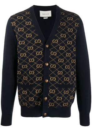 Gucci GG jacquard V-neck cardigan - Blue