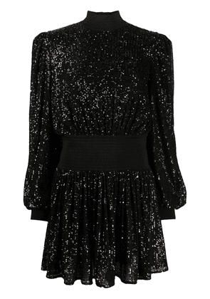 Balmain sequin embroidered mini dress - Black