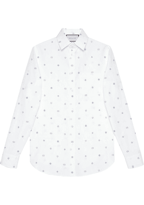 Gucci symbols pattern shirt - White