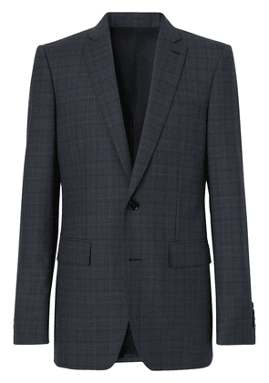 Burberry English Fit checked suit - Blue