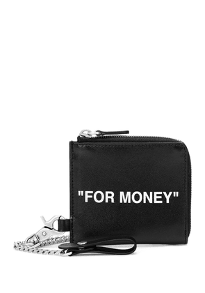 Quote leather coin pouch